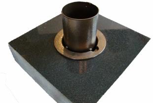 Bronze Vase on Dark Impala Granite