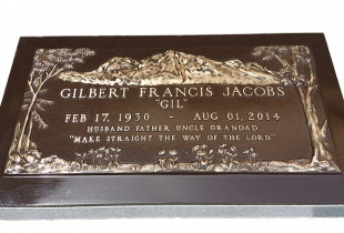 Bronze Plaque on Sera Grey Granite