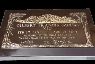 Bronze Plaque on Sera Grey Granite