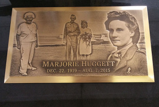 Bronze Plaque on Ebony Black Granite