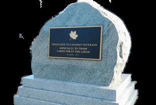 Bronze Plaque on Sera Grey Boulder Granite Monument