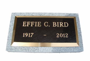 Bronze Memorial Plaque on Sera Grey Granite