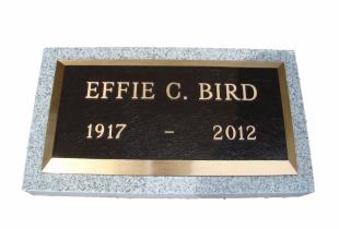 Bronze Memorial Plaque on Sera Grey Granite