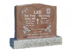 Granite Upright Headstone