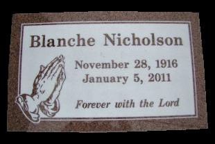 NICHOLSON-Blanche