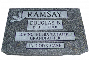 Grey Granite Flat Grass Marker with Pitched Edges