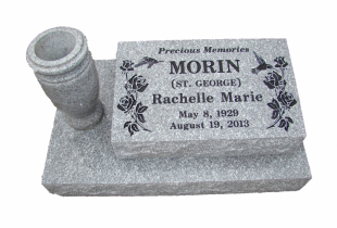 Sera Grey Granite Pillow Marker with Vase