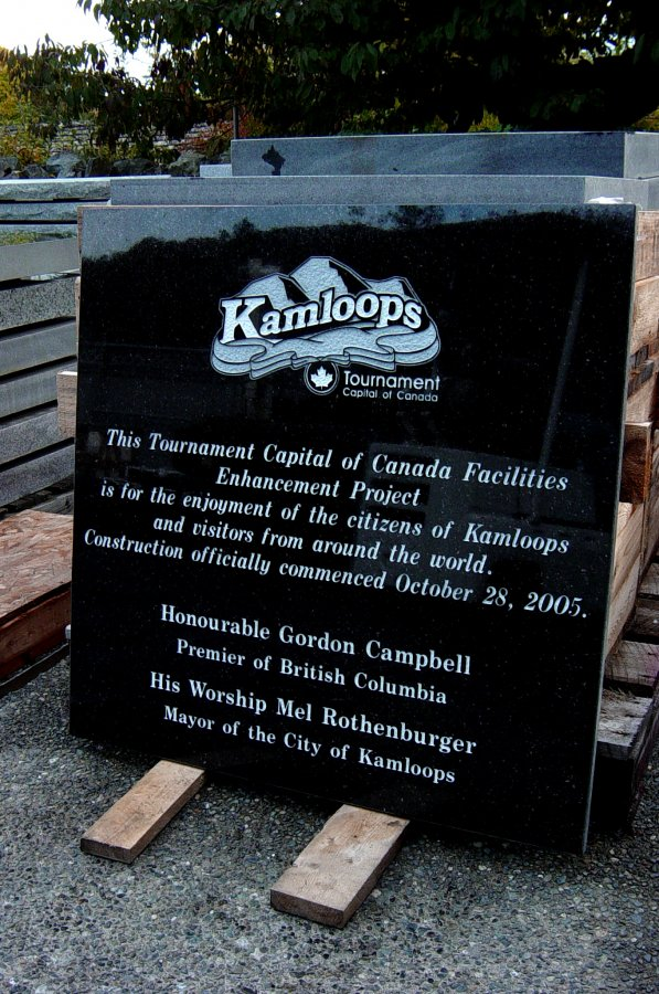 Kamloops Tournament Plaque