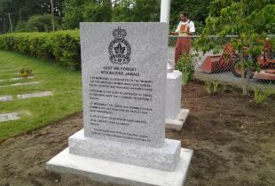 Sera Grey Flat Top Upright Granite Memorial