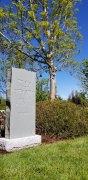 Sera Grey Slab Boulder Granite Upright Headstone