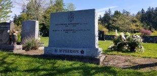 Multiple Name Sera Grey Granite Upright Headstone