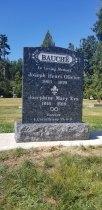 Blue Pearl Granite Upright Headstone
