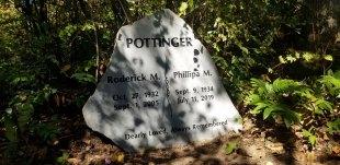 Sera Grey Granite Boulder Upright Headstone