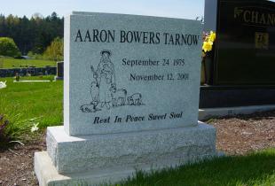 Sera Grey Upright Granite Headstone