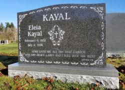 Double Dark Impala Serp Top Granite Upright Headstone