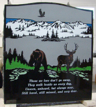 Double Ebony Black Serp Top Granite Upright Headstone with Flower Bed (Back)