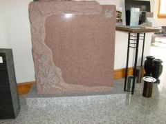 Mountain Rose Custom Shaped Granite Upright Headstone